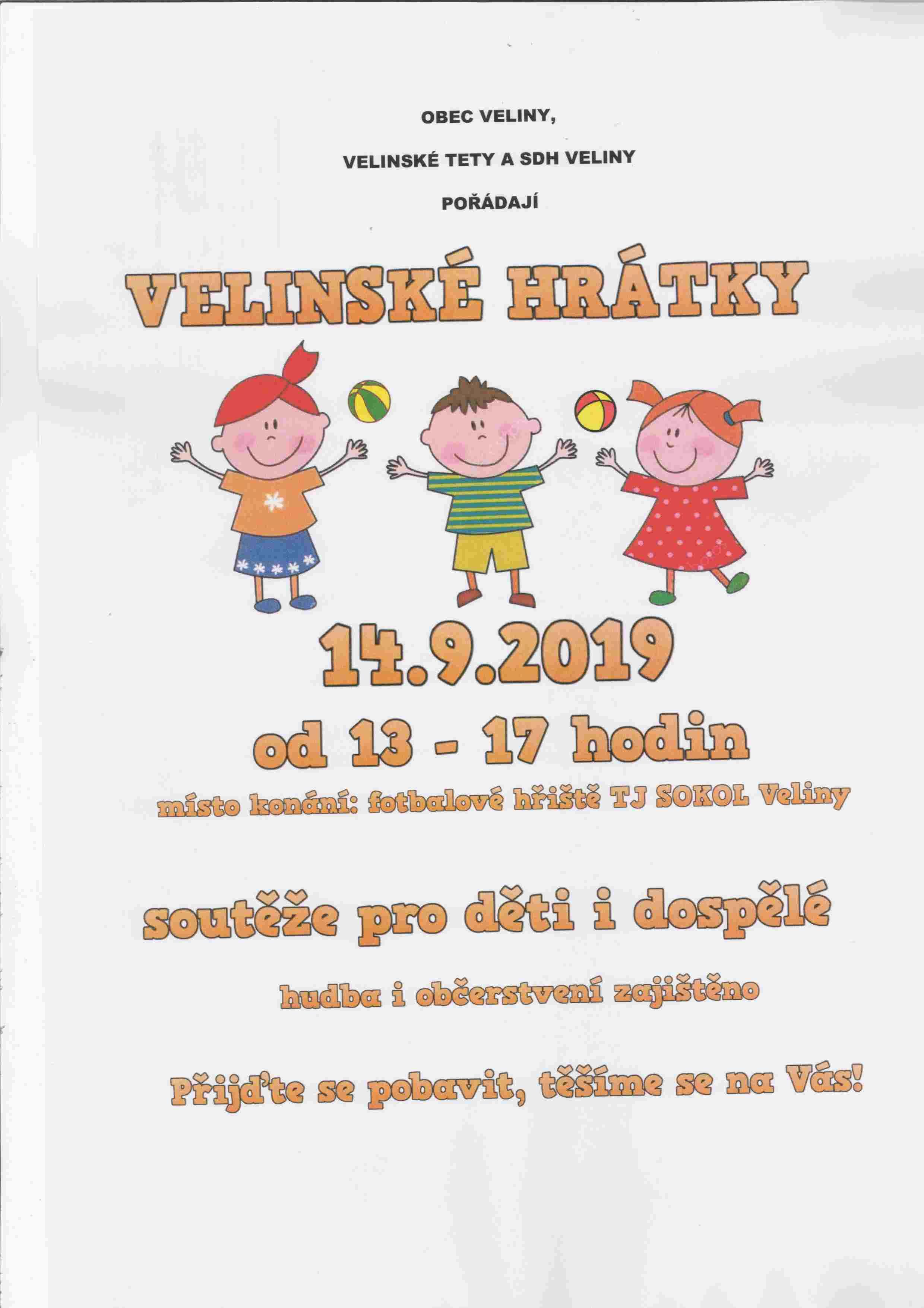 Plakát Velinské hrátky 2019